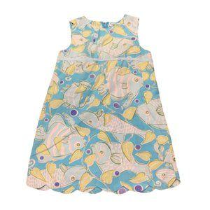Lilly Pulitzer Dress Fish Print Girls Sz 4